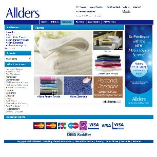 Ecommerce website design for Allders of Croydon Ltd.