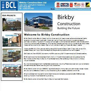 Drupal CMS website design for Birkby Construction Ltd.
