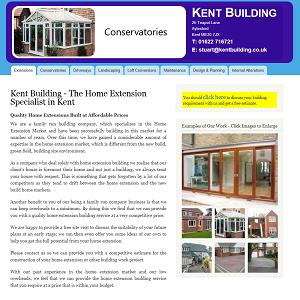 Drupal CMS website design for Kent Building.